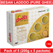 Combo Besan Laddoo Pure Ghee 200g (Pack Of 5)