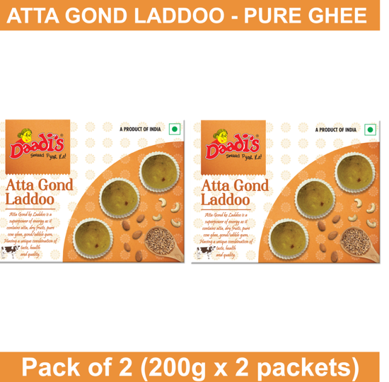 Atta Gond Laddoo 200g (Pure Ghee) (Pack Of 2)